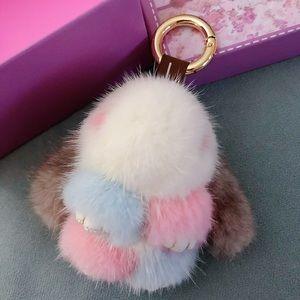 """Accessories - Mini Rabbit """"Mink Fur"""" bag charm"""